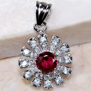 Jewelry - 1CT Ruby & White Topaz 925 Solid Genuine Sterling